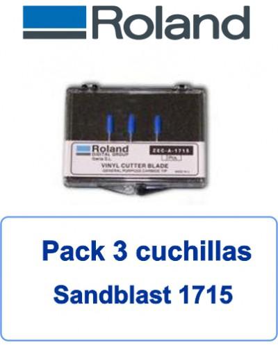 Pack 3 Cuchillas para sanblast ZECA1715-3